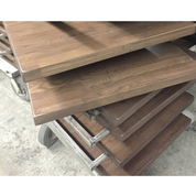 Custom Cana Walnut Finish Table Tops 4 Wood Options