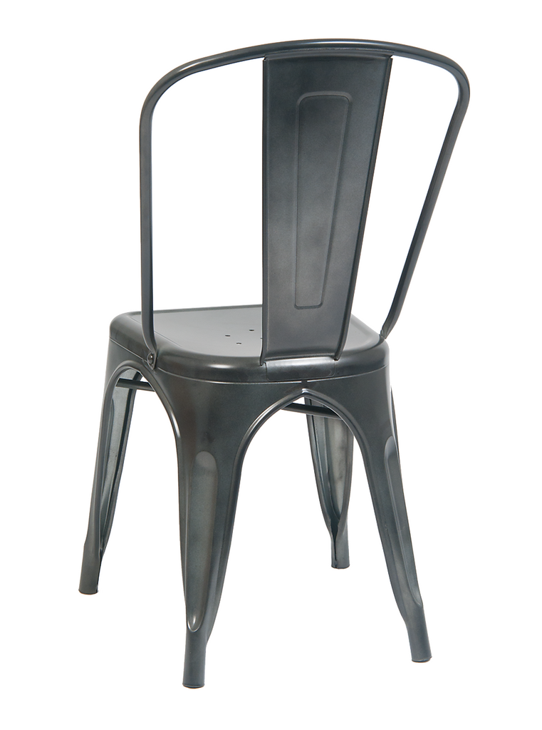 Custom Concrete Finish Tolix Chair Galvanized In-Outdoor Use