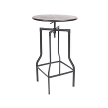 Industrial Dark Iron Finish Adjustable Bar Height Table 24
