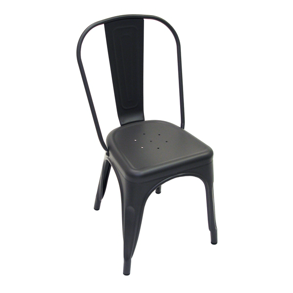 Dark Iron Matte Finish Tolix Chair