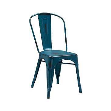 Dark Marlin Blue Weathered Tolix Chair