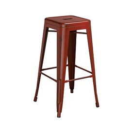 Tractor Red Weathered Tolix Bar Stool