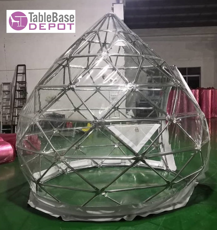 Double Helix Shape Geodesic Dining Dome Igloo Tent Stainless Steel 3M 4 Person