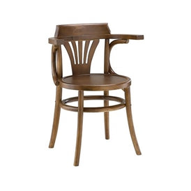 TBD Chic Series Dublin Pub Arm Chair Walnut Finish