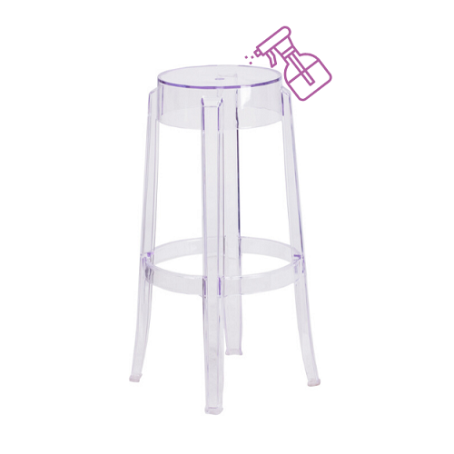 Eazy Clean Social Distancing Bar Stools Bullet Proof Material In-Outdoor