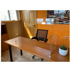 Enhanced Protective Germ Shield With Side Guards For Table Tops Counter Tops And Desks Custom Sizes