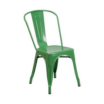 FERN GREEN FINISH TOLIX CHAIR GALVANIZED