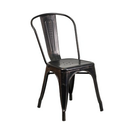 Galvanized Antique Black Copper Tolix Chair