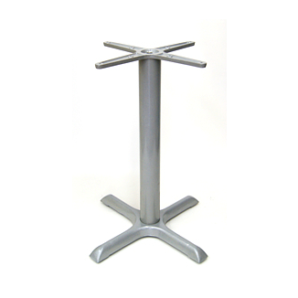 Galvanized Silver Outdoor Criss Cross Classic Table Base 30