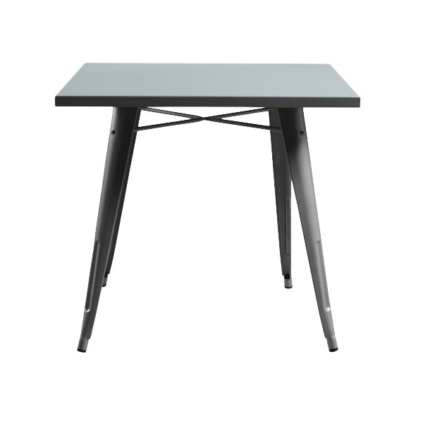 Galvanized Silver Powder Coat Tolix Table In-Outdoor Use