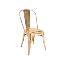 Gold Finish Tolix Chair