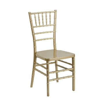 Gold Resin Chiavari Stacking Chair