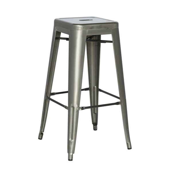 Medium Gun Metal Finish Counter Height Stool 24.5
