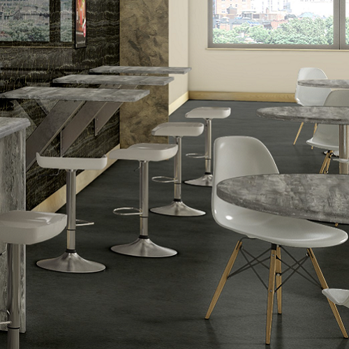 Hand Troweled Concrete Laminate Restaurant Table Top Custom Sizes