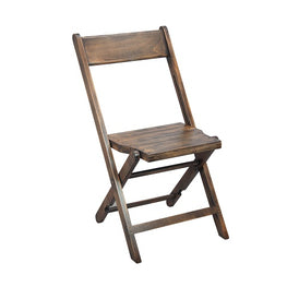 Heirloom Antique Wood Farmhouse Folding Chair