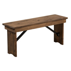 Heirloom Countrified Finish Country Farm Bench Two Sizes
