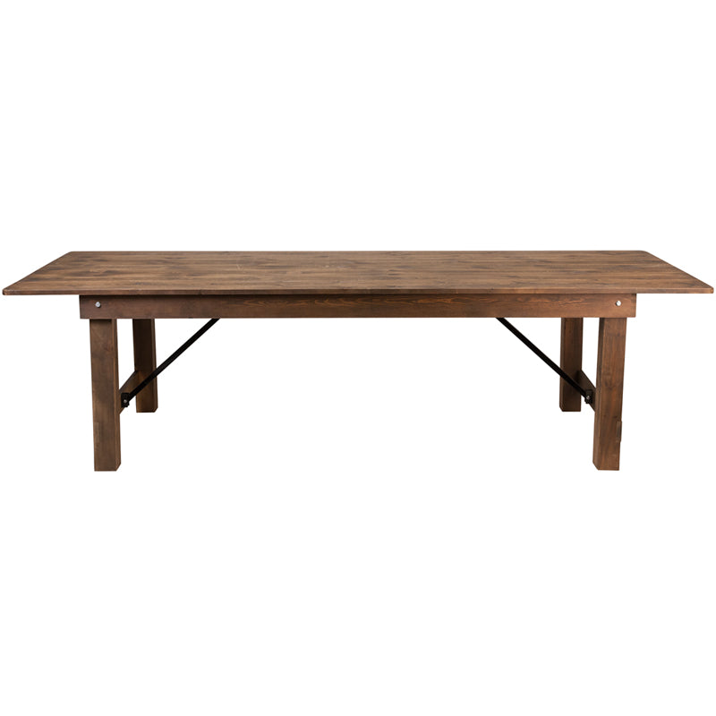 Heirloom Folding Countrified Finish Country Farm Table Commercial Grade