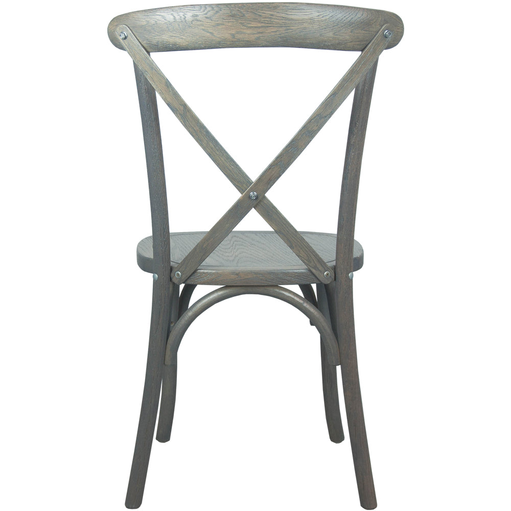 Heirloom Gray Wash Wood Stacking Farmhouse Chair