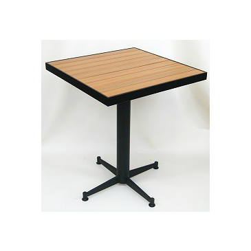 Honey Plas-teak Outdoor Table Tops Black Frame