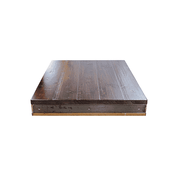 Industrialized Rustic Pine Metal Edge Table Top