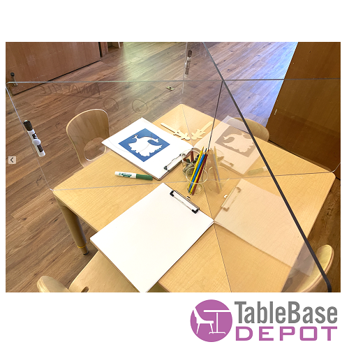 Interlinking Table Germ Barrier For Round Square Rectangular Tables and Desks