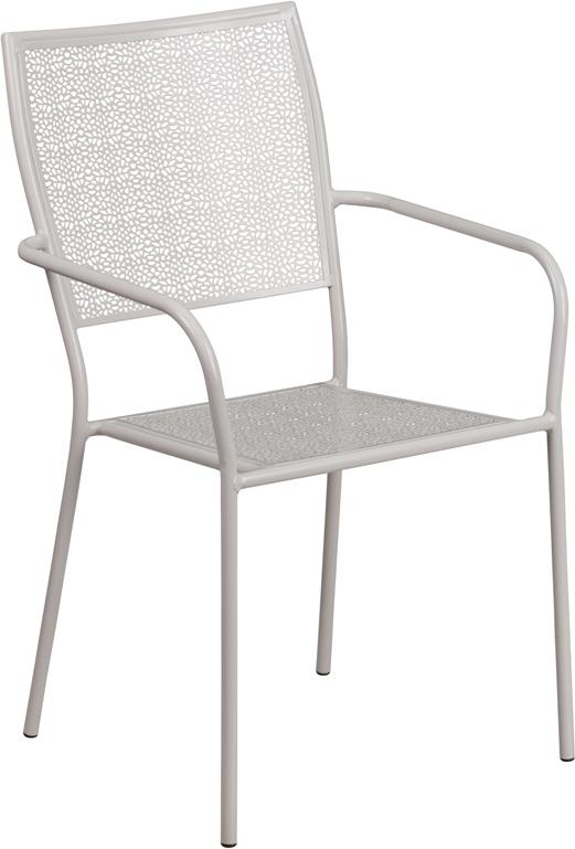 Bellina Outdoor Patio Arm Chair With Eased Square Back