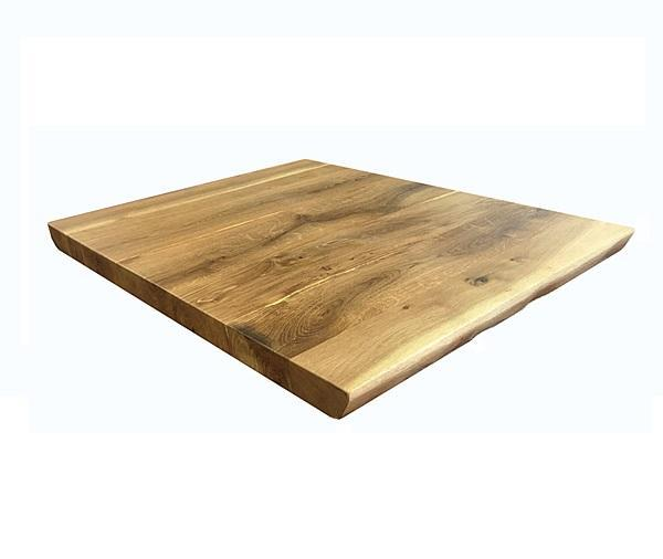Live Edge Natural Finish Plank Oak Table Top 2inch