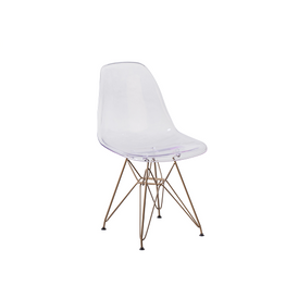 Lucent Clear Chair with Gold Base