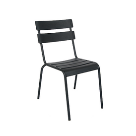 Massima Black In-Outdoor Petite Version Galvanized Side Chair