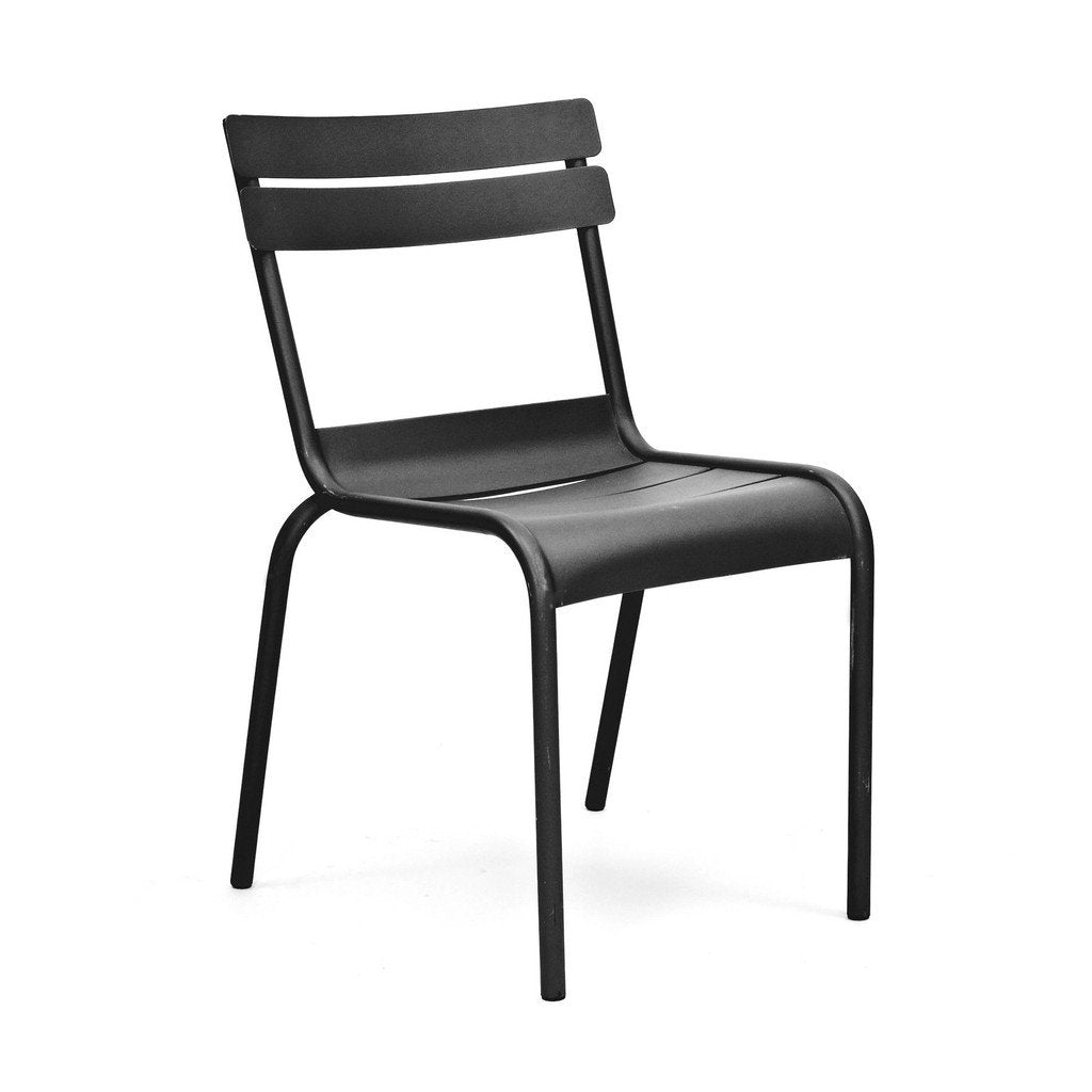 Massima Black Indoor Outdoor Galvanized Side Chair