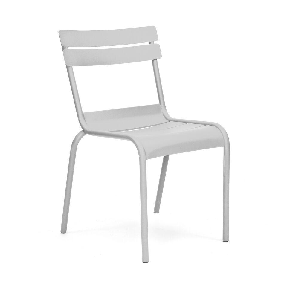 Massima White Indoor Outdoor Galvanized Side Chair