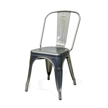 Medium Gun Metal Finish Tolix Chair