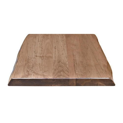 Medium Walnut Eastern Maple Live Edge Restaurant Table Tops