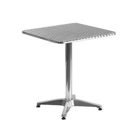 Modern Smooth Stainless Steel Patio Table and Base 23.5