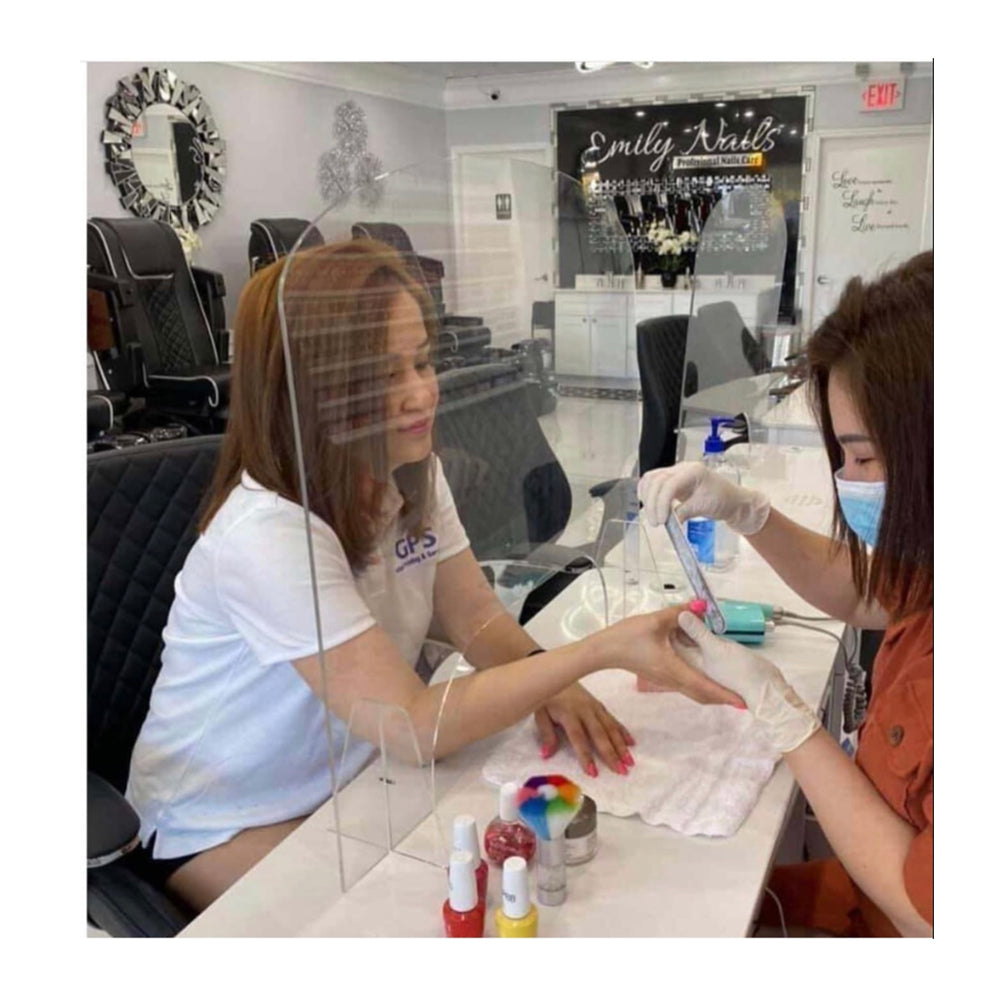 The Nailed It Nail Salon Safety Barrier Exclusive Custom Design