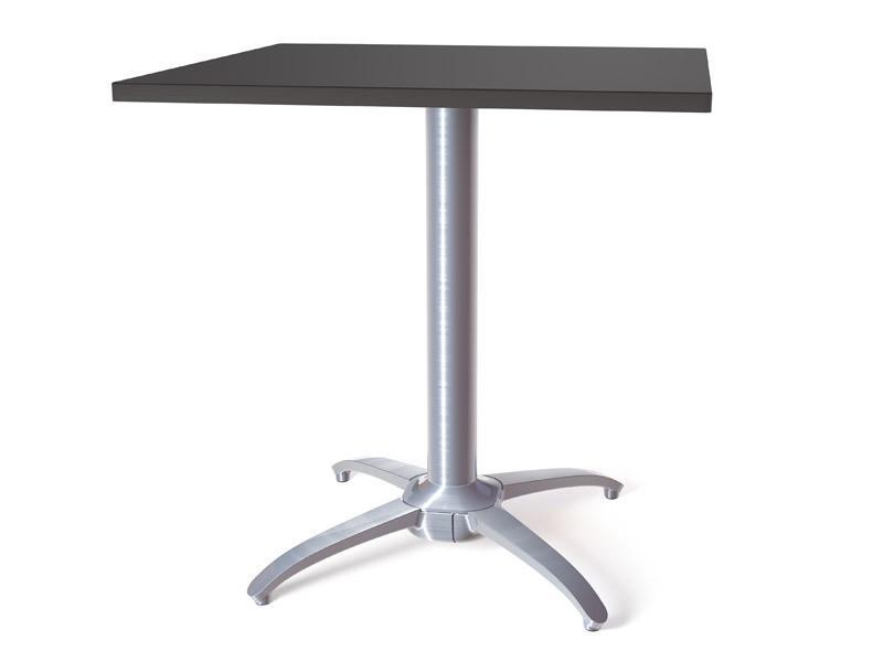 NoRock Table Base Metallic Silver Classic Cross Style Base 27