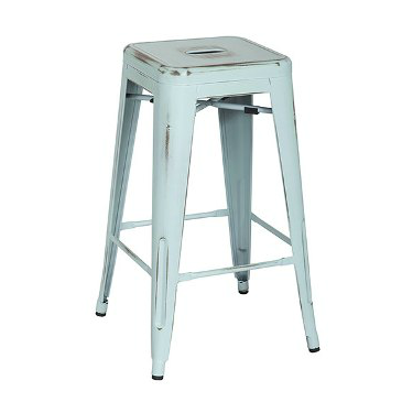 Old Powder Baby Blue Vintage Tolix Bar Stool