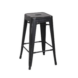 Old Black Antique Counter Height Bar Stool