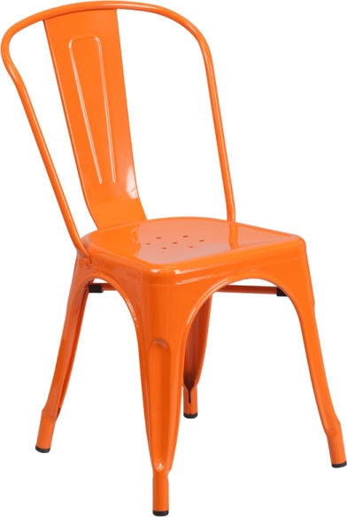 Princeton Orange Finish Tolix Chair