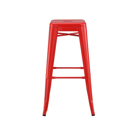 Red Baron Tolix Bar Stool