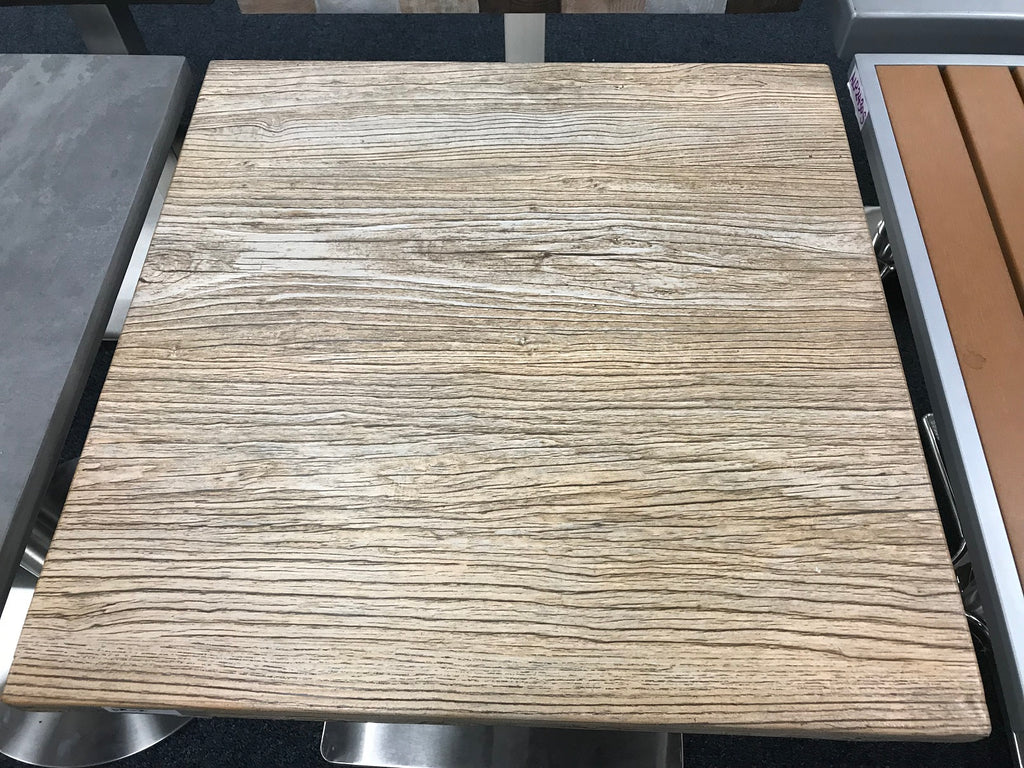 Reclaimed River Wood Resin Restaurant Table Tops In-Outdoor