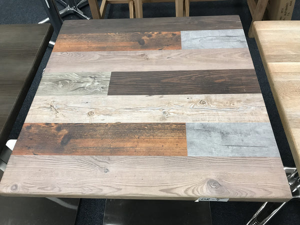 Reclaimed Industry Wood Resin Restaurant Table Tops In