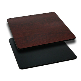 Rectangular Double Sided Laminate Mahogany Black Table Tops