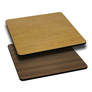 Rectangular Double Sided Laminate Natural Walnut Table Tops