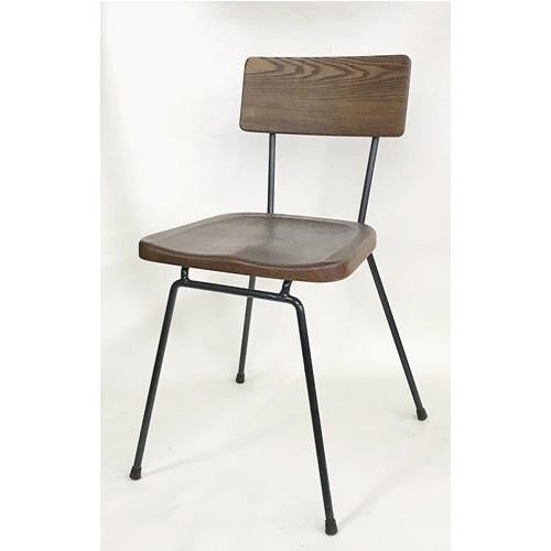 Rex Vintage Oak Walnut Finish Restaurant Chair