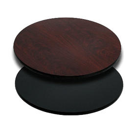 Round Double Sided Mahogany Black Laminate Table Tops