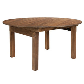 Round Heirloom Countrified Finish Country Farm Table Commercial Grade 60