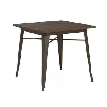 Rusted Finish Tolix Elm Wood Dining Table 30