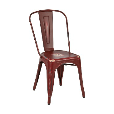 Rusty Barn Red Finish Tolix Chair