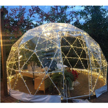 Safe Pod Steel Patio Igloo 4 Person 3M Geodesic Dome Tent Square Zipper Entrance